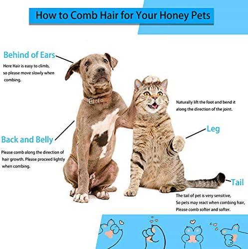 ACE2ACE Brosse Chiens Chats, Autonettoyante Brosse poils morts pour chat chien, Enlèvement Efficace jusqu'à 95% des Poils Morts et Poils Tomentose, adapté pour les Chiens Chats cheveux courts et longs