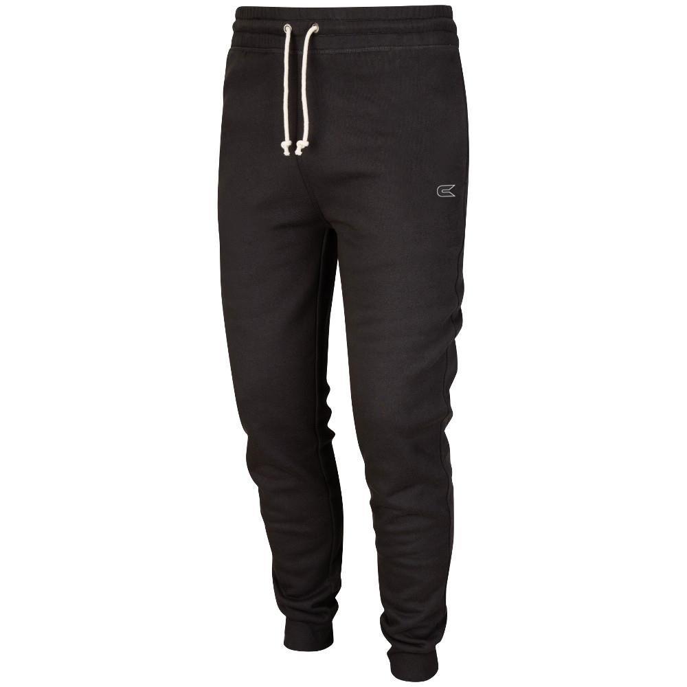 メンズ トレーニング細身 ジョガー サッカー パンツ (黒) B011MFH01I Medium