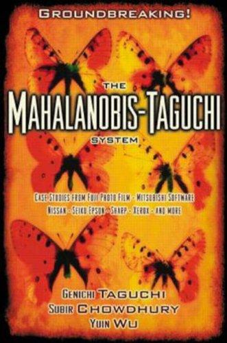 The Mahalanobis Taguchi System
