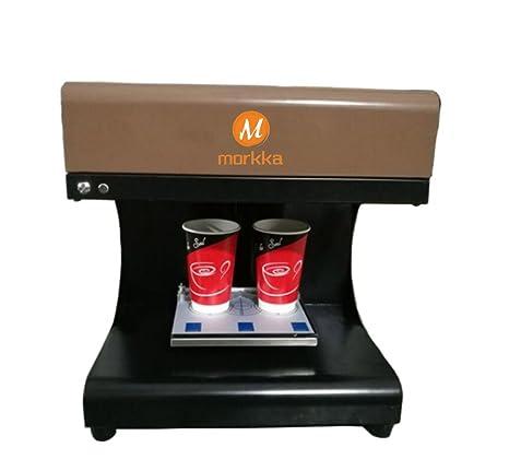 Impresora Mokka 3D Coffee, 2018 Upgrade 4 Tazas Latte Cake Selfie Impresora Artística Full Tinta