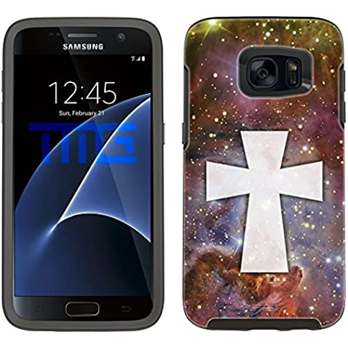 Skin Decal for Otterbox Symmetry Samsung Galaxy S7 Edge Case - Maltese Cross on Nebula Brown Sales