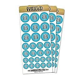 RN Nurse Caduceus Symbol Removable Matte Sticker Sheets Set