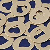 20pcs tibetara 32mm Round brass Hollow out the heart Stamping Blank Diy Jewelry Supplies