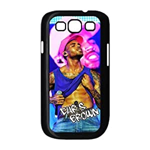 Customize Famous Singer Chris Brown Back Case Suitable for Samsung Galaxy S3 I9300 JNS3-1458