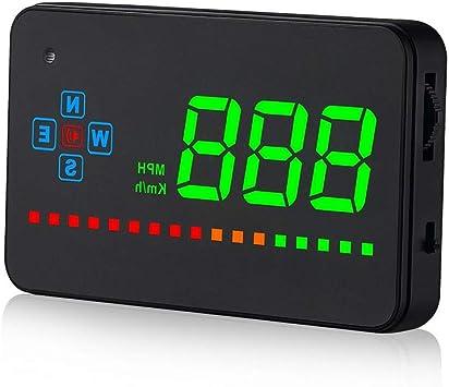FAJIE - Reloj Digital eléctrico para Coche con Pantalla Frontal ...