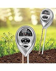 جهاز قياس درجة حموضة التربة سهل وسريع التشغيل، جهاز 3 في 1 لقياس رطوبة التربة / الضوء / الحموضة، مجموعة قياس درجة الحموضة للحدائق والمزرعة داخل وخارج المنزل من يوجوتالت، لا تحتاج الى بطارية
