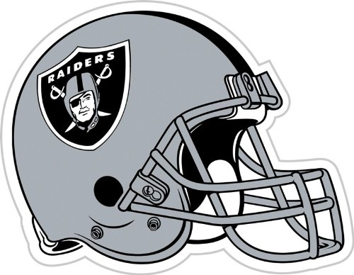 NFL Oakland Raiders Vinyl Magnet, Team Color