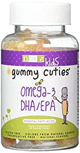 Natural Dynamix DHA/EPA Omega 3 Chewable Cuties Great Taste Gluten Free Preservative Free Natural Color Source
