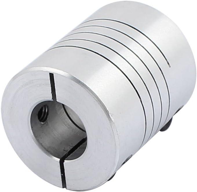sourcingmap 6.35mm to 10mm Shaft Coupling 30mm Length 25mm Diameter Stepper Motor Coupler Aluminum Alloy Joint Connector for 3D Printer CNC Machine DIY Encoder