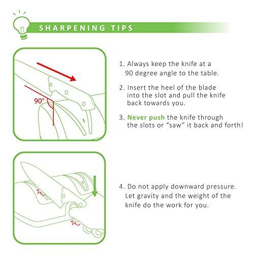 LINKYO Electric Knife Sharpener, Kitchen Knives Sharpening System by LINKYO (Image #2)
