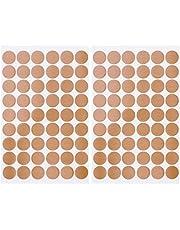 Hemoton 2 vellen schroeven afdekkapjes stickers meubelschroeven afdekkingen PVC zwart puntstickers 20 mm kleefpunten 54 stuks per blad kast meubels schroefdoppen stickers