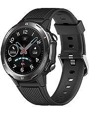 UMIDIGI Uwatch GT Smartwatch Fitnesshorloge Heren Dames Waterdicht 5ATM Smart horloge Pols Hartslagmeter Stappenteller Smartband Activity Tracker Kids Stopwatch voor Android iOS (Zwart)