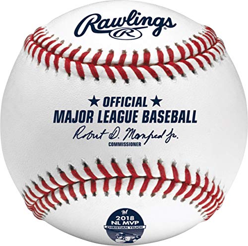 Nl Mvp Mlb Baseball - Rawlings Official Christian Yelich Brewers 2018 NL MVP MLB Baseball - Boxed