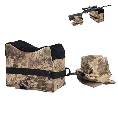 Shooting Gun Rest Bags, Unfilled Front Rear Dead Shot Sand Bag for Rifle Hunting (Camo) (Camo Sand)