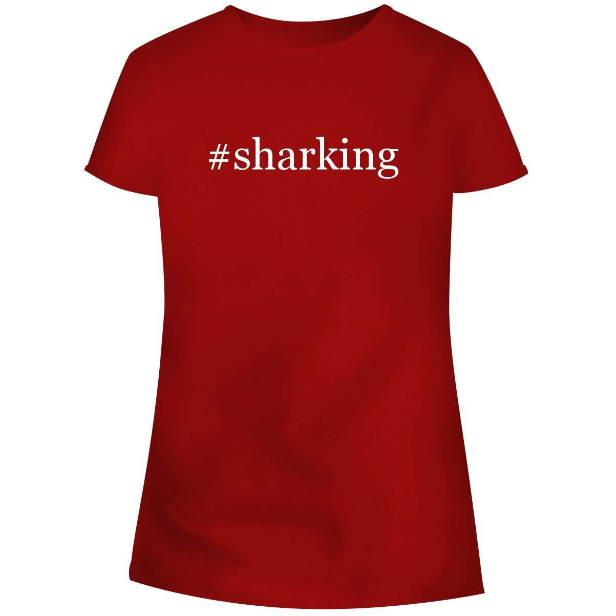 Sharking Hashtag Soft Cut Adult Tee T Shirt 7662