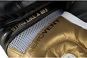 Title Boxing Ali Infused Foam Hook and Loop Training Boxing Gloves Black//Gold