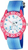 Disney Girl's 'Palace Pet' Quartz Plastic and Nylon Watch, Color:Blue (Model: W002826)