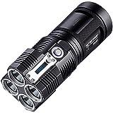 Nitecore Tiny Monster TM26 Quad Ray XM-L2 U3 LED Flashlight - 4000 Lumens w/A&A Keychain light