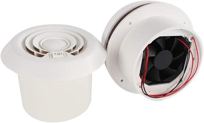 CVERY RV - Ventilador de Techo para Caravana, 12 V, Rejilla de ...