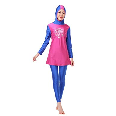 2397b3aaa3 Zhuhaixmy Women Muslim Islamic Malaysia 2-Piece Modest Full Cover Attached  Cap Burkini Swimwear Arab Middle East Hijab Swimsuit Malaysia Beachwear Sun  ...