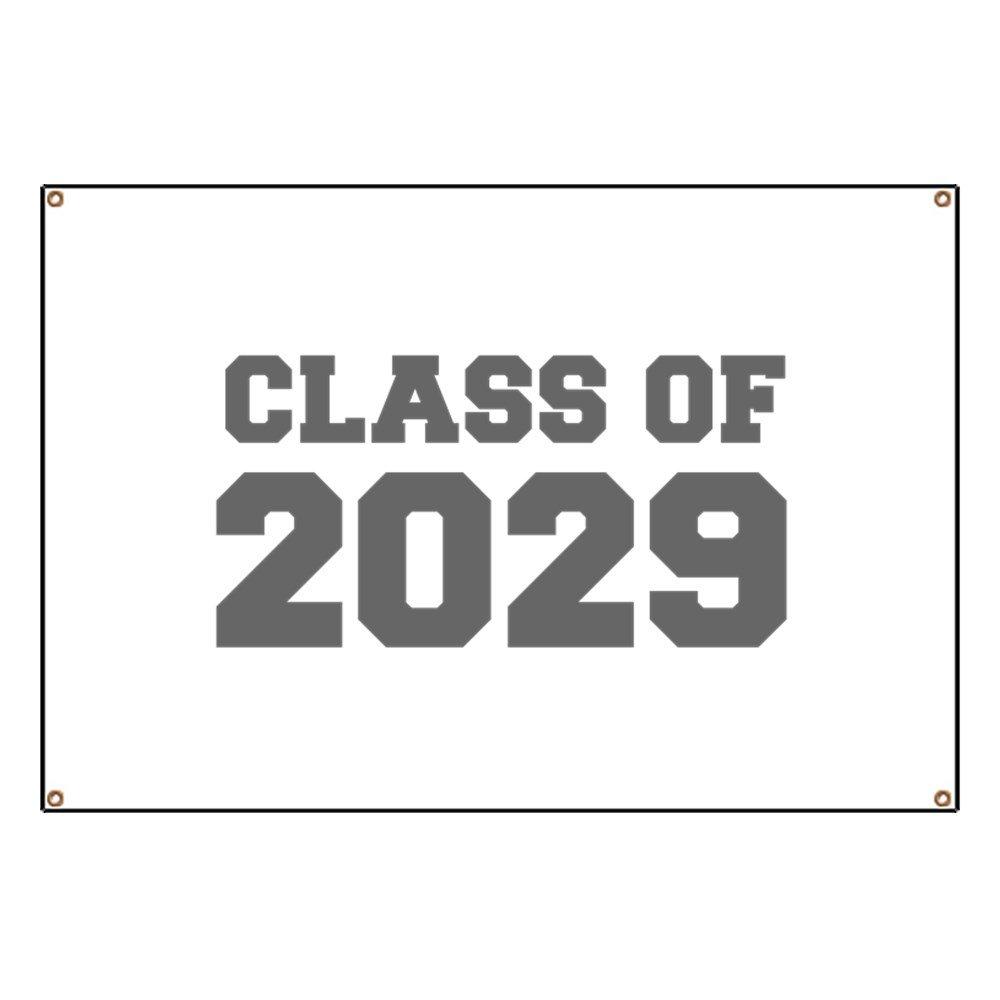 CafePress CLASS OF 2029-Fre Gray 300 - Vinyl Banner, 44''x30'' Hanging Sign, Indoor/Outdoor