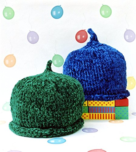 Chenille Knitting Patterns (Baby Chenille - Cabin Fever Knitting Pattern #110 - Quick & Easy Beginner Knit Baby Hat)