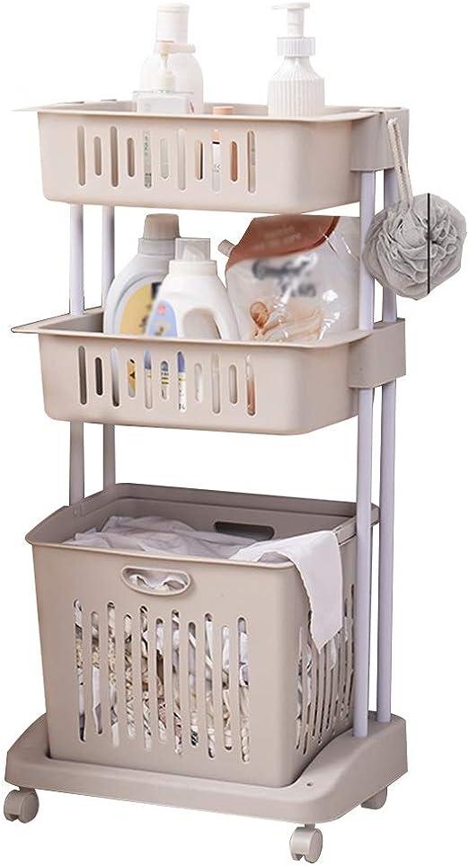 Cesta de almacenamiento Simple Piso Rack Cuarto de baño Lavadora ...