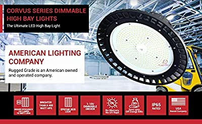 LED High Bay Lighting - UFO LED Light - Ultra Efficient 135 Lumens to Watts - Warehouse LED Lights - High Bay LED Lighting