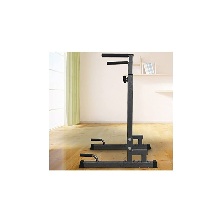 Livebest Adjustable Heavy Duty Dip Stand Parallel Bar Bicep Triceps Training Exercise Home Gym Fitness Dipping Station Dip Bar Work Out Equipment