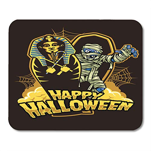 Emvency Mouse Pads Coffin Halloween Mummy Out from Sarcophagus Dracula Egypt October Mouse pad 9.5