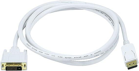 Black Monoprice 102686 6 ft 24AWG CL2 Dual Link DVI-D Cable