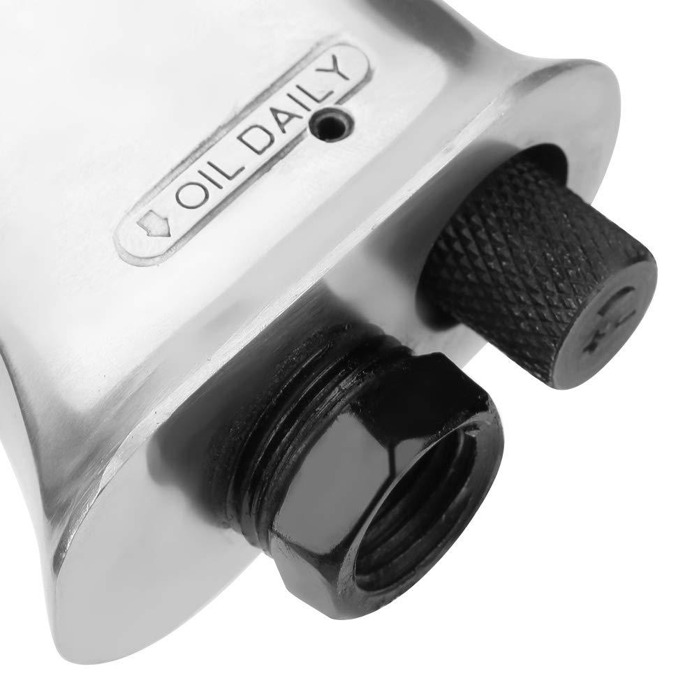 1//4 Zoll 10 CFM Druckluft-Nadelentroster 19 Nadeln Nadelpistole aus Kohlenstoffstahl Schwarz 3000 U//Min Nadelentroster 35 cm