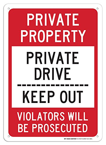 Private Property Keep Out Sign - 14