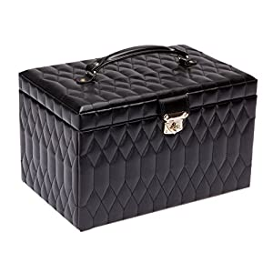 WOLF 329571 Caroline Extra Large Jewelry Case, Black