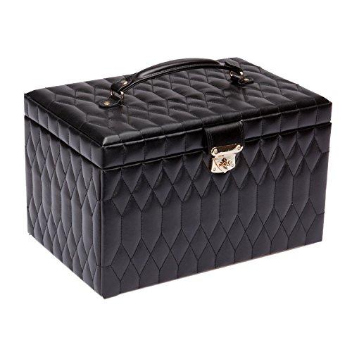 WOLF 329571 Caroline Extra Large Jewelry Case, Black