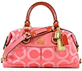 Coach Madison Op Art Sabrina Satchel, Gold/Pink F12947