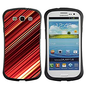 Pulsar iFace Series Tpu silicona Carcasa Funda Case para SAMSUNG Galaxy S3 III / i9300 / i747 , Abstract Red Stripes