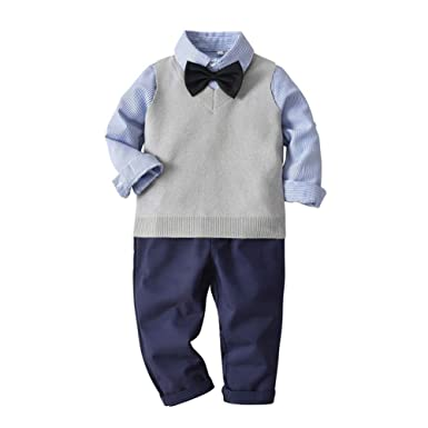 30038204e53ee 子供 ベビー スーツ 男の子 ニットベスト タキシード 4点セット シャツ フォーマル お宮参り 入園式