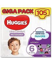 Huggies Ultra Comfort luiers, maat 6 (15-25 kg), 105 stuks