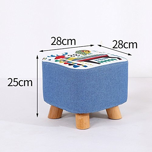 STJK$BMJW Small Stool For Shoes Stool Sitting Room Tea Table Sofa Stool Children Sitting Pier Cloth Art Stool Family Stool. 06