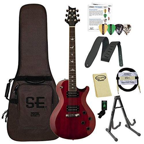 - PRS SE Custom 24 Left Handed Electric Guitar with ChromaCast Hard Case, Strap, Tuner, Strings, Picks & Cable, Trampas Green