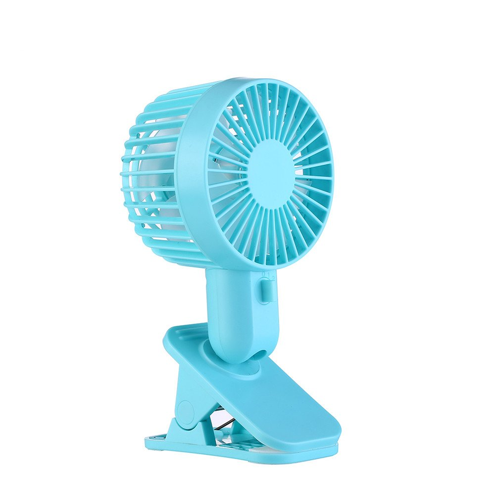 Sammid Clip-On Fan,Portable Fans,Personal Mini USB fan,Desk Adjustable Fans - Blue