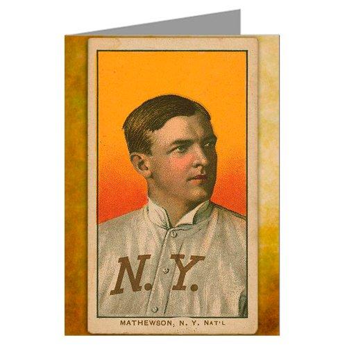 12 Notecards of Christy Mathewson, Pitcher New York Giants Portrait Baseball Card
