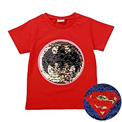 Superman Flip Sequin Magic Cotton T-Shirt
