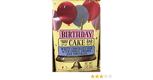 Amazon Trader Joes Birthday Cake Bar Grocery Gourmet Food