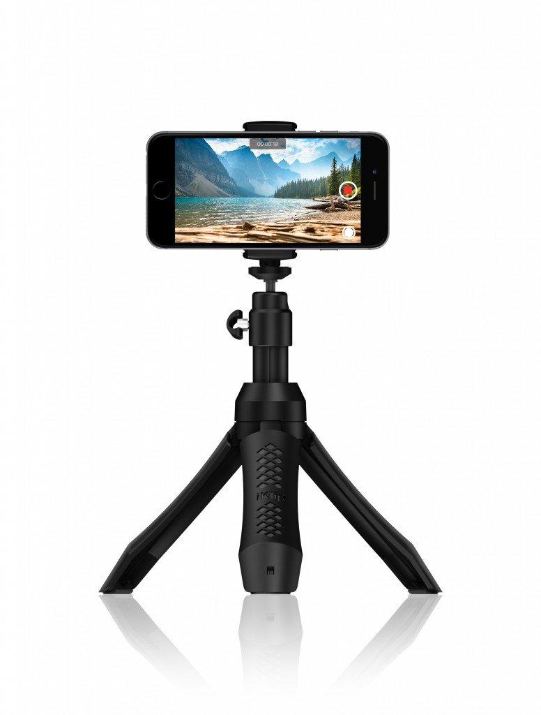 IK Multimedia Smartphone Stand - Tripod, Monopod, Camera Mount and Grip with Bluetooth Shutter, Black by IK Multimedia