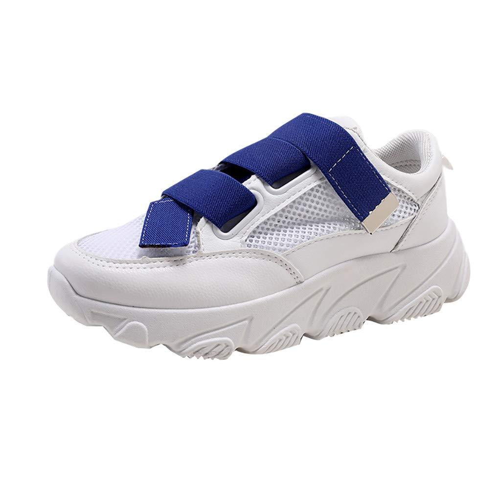 Women Walking Shoes Mesh Lightweight Casual Sports Slip on Gym Jogging Tennis Running Sneakers (US:5.5, Blue)