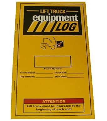 IRONguard 70-1065 Replacement Lift Truck Log Book for Propane Counterbalance