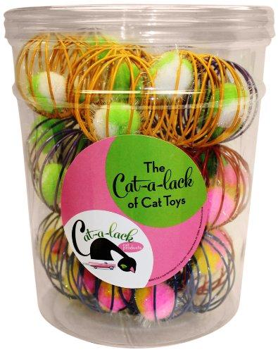 cat-a-lack 36cagey Bälle in Vorratsglas für Haustiere