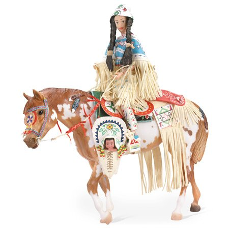 Breyer TR Indian Pony & Leotie Set